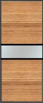 Fine line split panel sliding wardrobe doors