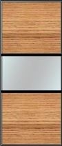 Medium line split panel sliding wardrobe doors